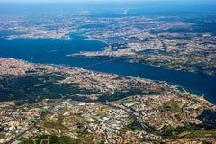 Vue au-dessus de Lisbonne Image libre de droits