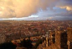 Vue au-dessus de Lisbonne photos libres de droits