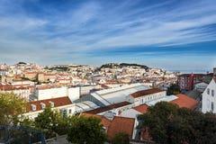 Vue au-dessus de Lisbonne du centre, Portugal Photographie stock libre de droits
