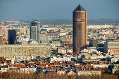 Vue au-dessus de Lyon et de Le Crayon, France Image stock