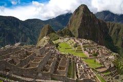 Vue au-dessus de Machu Picchu image stock