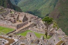 Vue au-dessus de Machu Picchu images libres de droits