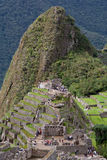 Vue au-dessus de Machu Picchu images stock