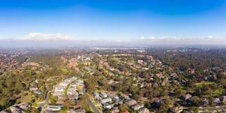 Vue au-dessus de Macleod à Melbourne Photo stock