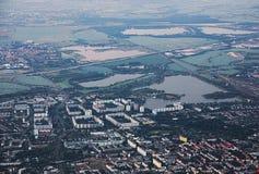 Vue au-dessus de Magdebourg au nord Image stock