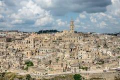 Vue au-dessus de Mantera, Italie Image libre de droits