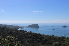 Vue au-dessus de Manuel Antonio, Costa Rica image stock