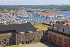 Vue au-dessus de Marstrand Image stock