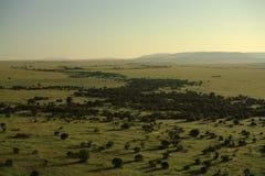 Vue au-dessus de masai Mara Image libre de droits