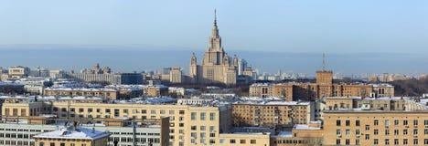 Vue au-dessus de Moscou, Russie photos libres de droits
