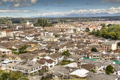 Vue au-dessus de Popayan, Colombie Photographie stock libre de droits