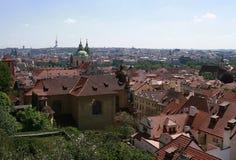 Vue au-dessus de Prague Images stock