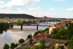 Vue au-dessus de Prague Photographie stock libre de droits