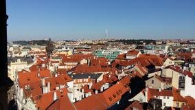 Vue au-dessus de Prague images libres de droits