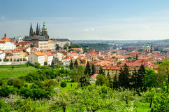 Vue au-dessus de Prague de monastère de Strahov Images stock