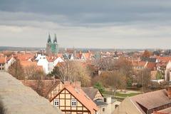 Vue au-dessus de Quedlinburg Photo libre de droits