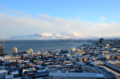 Vue au-dessus de Reykjavik Photos stock