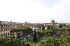 Vue au-dessus de Rome Images libres de droits