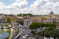 Vue au-dessus de Rome, Italie Images libres de droits