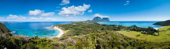 Vue au-dessus de seigneur Howe Island Image libre de droits