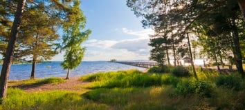 Vue au-dessus de Siljan Photographie stock libre de droits