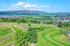 Vue au-dessus de Stirling Image stock