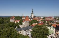Vue au-dessus de Tallinn Image libre de droits