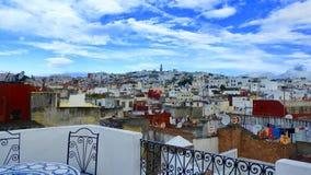 Vue au-dessus de Tanger, maroc photographie stock libre de droits