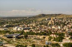 Vue au-dessus de Tbilisi Image libre de droits