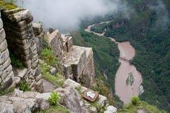 Vue au-dessus de vallée d'Urubamba photographie stock libre de droits