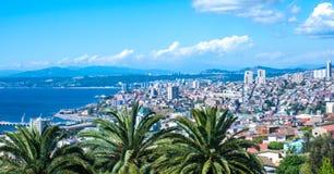 Vue au-dessus de Valparaiso Image stock