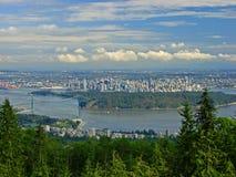 Vue au-dessus de Vancouver Images stock