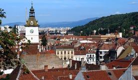 Vue au-dessus de vieille ville Images stock