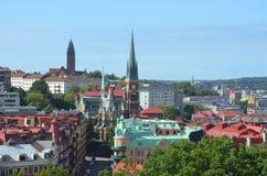 Vue au-dessus de ville Photo stock