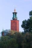 Vue au-dessus de ville hôtel de Stockholm Image stock