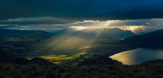 Vue au-dessus de Wanaka Images libres de droits