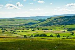Vue au-dessus de Yorkshire du nord Photographie stock