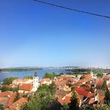 Vue au-dessus de Zemun, Belgrade Photo libre de droits