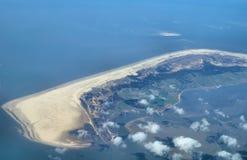 Vue au-dessus des îles de l$mer des Wadden Images libres de droits