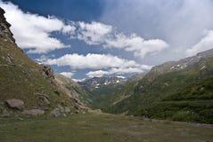 Vue au-dessus des Alpes, Italie Images stock
