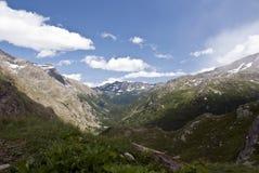 Vue au-dessus des Alpes, Italie Images libres de droits