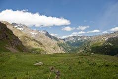 Vue au-dessus des Alpes, Italie Photographie stock