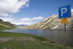 Vue au-dessus des Alpes, Italie Photo stock