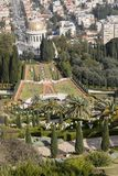 Vue au-dessus des jardins de Bahai à Haïfa - en Israël Photos libres de droits
