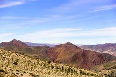 Vue au-dessus des montagnes d'atlas Photographie stock libre de droits