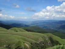 Vue au-dessus des montagnes de Mpumalanga image stock