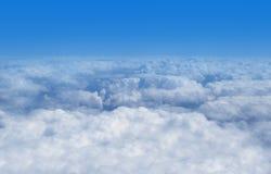 Vue au-dessus des nuages Images libres de droits