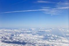 Vue au-dessus des nuages Photos libres de droits