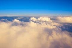 Vue au-dessus des nuages Photo libre de droits
