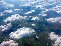 Vue au-dessus des nuages Photographie stock